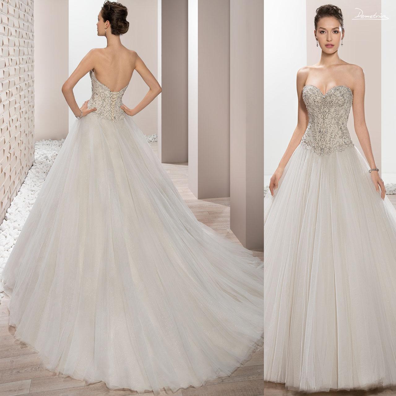 954856ec8ab8 ... Abito sposa da principessa con corpetto in perle e gonna in tulle  bianco a goccia articolo ...