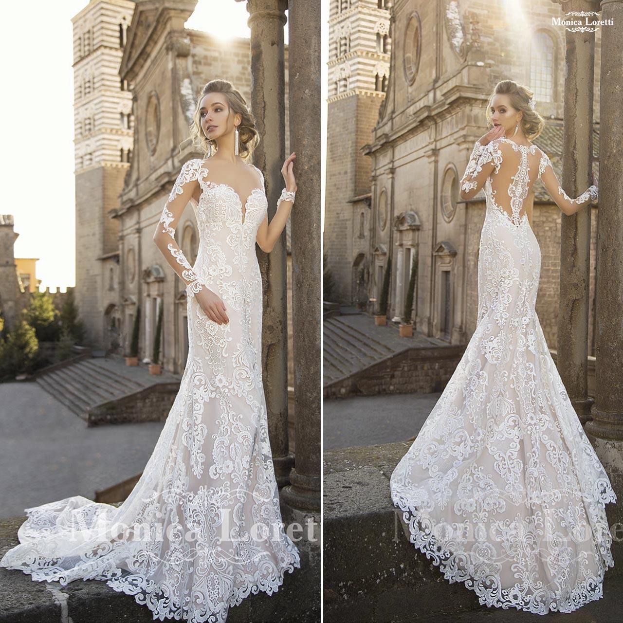 ... Abito da sposa in pizzo bianco articolo Naila Monica Loretti ... 9b91c51a3e8