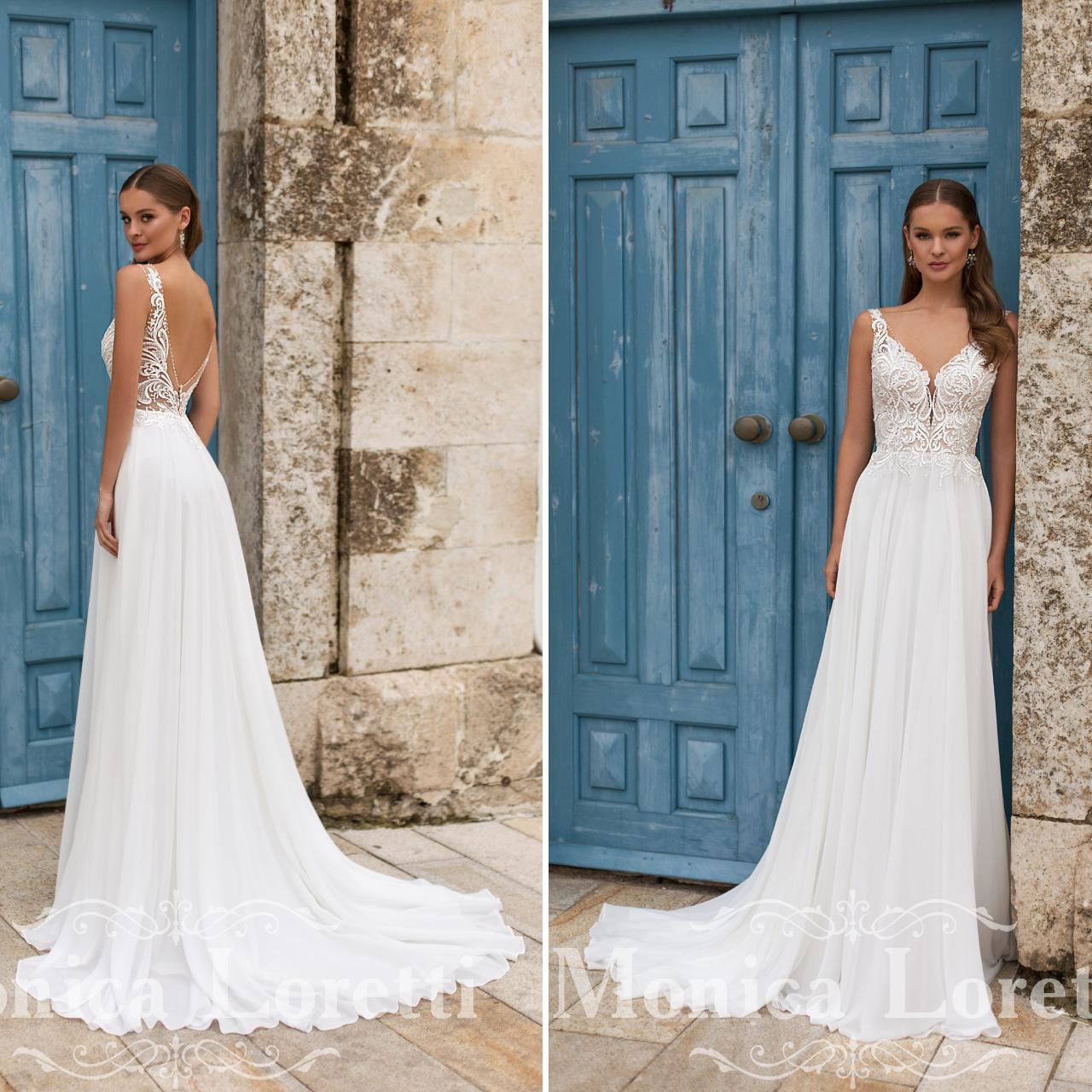 Abiti Da Sposa 00165.Abiti Spose Monica Loretti 2020 Da Boutique Velo
