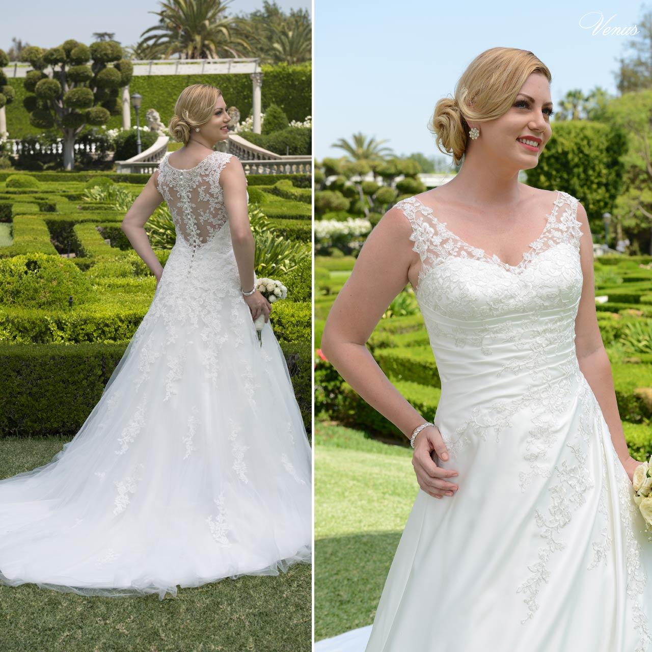 ... Abito da sposa taglie forti in tulle e pizzo bianco articolo VW8736C Venus  Bridal Italia ... b514308e68e