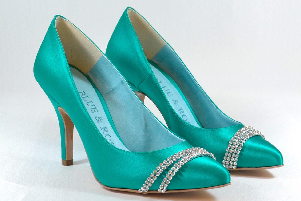 19296480b622 Boutique Velo     Accessori. Scarpe da sposa verdi articolo 1Z09001S Blue  ...